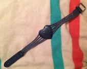 """Vintage leather heart waist belt sz xs sz 27"""""""