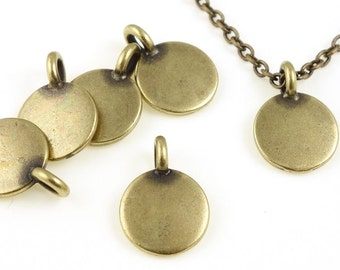 Antique Brass Stamping Blank Bronze TierraCast Blank Charm for Personalized Jewelry - Antique Brass Blank (P1236)