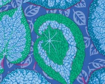 Kaffe Fassett Big Leaf Blue Phillip Jacobs Fabric 1 yard