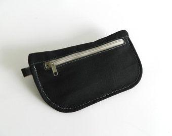 SALE SALE SALE  20% Sale -  // D- Pouch in Black //  Wallet / clutch / cosmetic bag / iphone case /  travel / Women /  Pouch