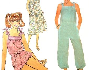 1970s Jumpsuit Pattern Long Short Jumper Vintage Uncut Sewing Simplicity Jiffy Women's Misses Size 14 Bust 36 Inches