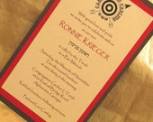 Camping Theme Bar Mitzvah Invitation (Sample)