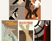 Movie posters Tarantino Collection set of five 12 x 18 inches prints save 10%