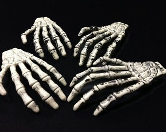 10 Skeleton Hands, Gothic, Halloween