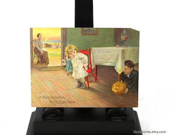 1900s Jack o Lantern Print, Antique Halloween Advertising Gimmick
