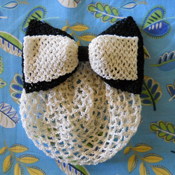 Vintage Crochet Bow Snood Pattern