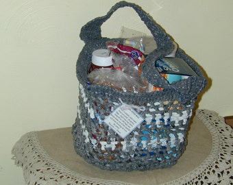 Upcycled Recycled Plarn Tote Bag