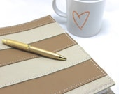 Leather Planner Cover - Custom sized to fit any planner - Genuine Leather - Personalized