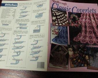 Afghan Crocheting Patterns Classic Coverlets Needlecraft Shop 901502 Crochet Pattern Leaflet Sandra Smith