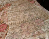 1920s Art Deco ASSUIT FABRIC with METAL Designs Shawl