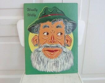 Vintage Puzzle Game Box Face Kitsch Interchangable