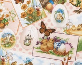 Vintage Easter Look Fabric By The Yard FBTY