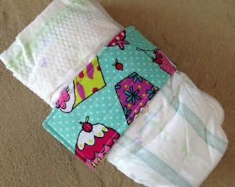 Aqua Cupcake Diaper Strap