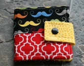 Bi-fold Wallet ......Mustache....Rainbow .....Ready to Ship