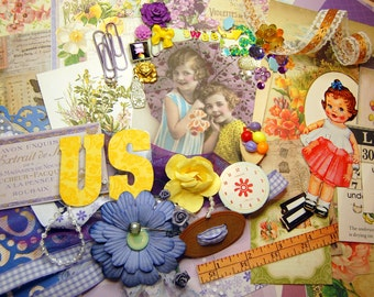 Friends Like Us! Embellishment Kit For Layouts, Journals, Card Making, Altered Mixed Media Art, Collages