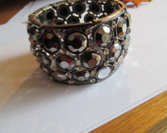 silver disc bracelet
