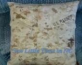 USMC MARPAT Desert Uniform or USN Camouflage Pillow Cover