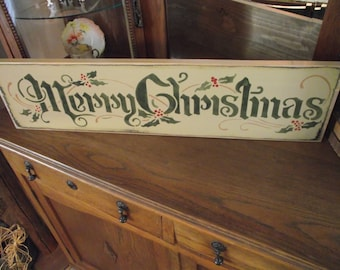 Merry Christmas primitive wood sign