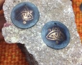Earings triquetra symbol