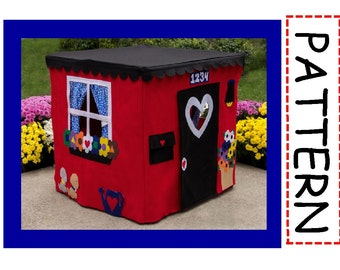 Card Table Playhouse Pattern, Deluxe, Instant Download at Purchase, Sew the Playhouse seen on the Today Show, eBook over 45 pages
