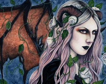 Unseelie 13 x 19 Print Gothic Fairy Art