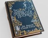 Hollow book, secret safe box - The Complete Sherlock Holmes- wooden hideaway book box. Hidden compartment.