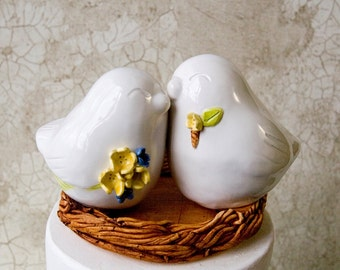 Love Bird Topper with Customized Bouquet and Boutonniere