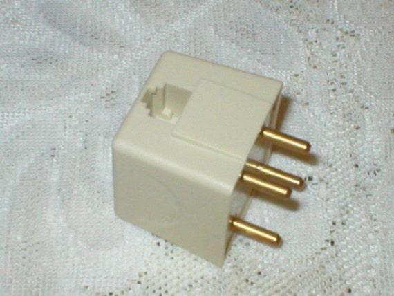 4 Prong Phone Adapter Telephone Wall Jack Plug