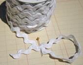 "White Rick Rack - Jumbo Cotton - Sewing Ric Rac Trim - 11/16"" Wide - 3 Yards"