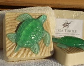 RESERVED 4 Sea Turtle soaps - oatmeal & olive oil soap - Luau island Hawaiian beach...