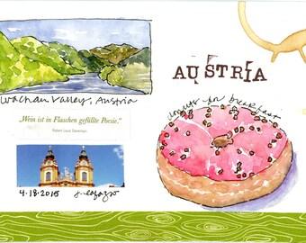 Austria ~ Original watercolor