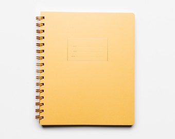 The Standard Sketch Notebook - letterpressed Mustard cover notebook with blank interior pages