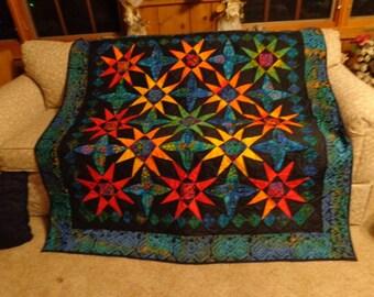 Bright oriental quilt