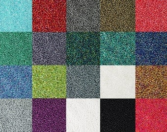 Glass Seed Bead 15g 11/0 OPAQUE Transparent Luster Electroplate CHOICE of Color 1mm-1.5mm (1015see11m-01)