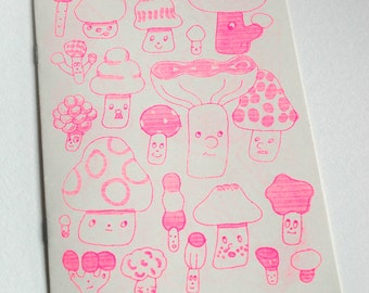 Untitled Zine with Mushrooms on cover