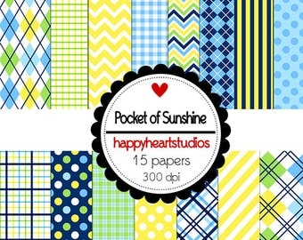 Digital Scrapbooking PocketsOfSunshine-INSTANT DOWNLOAD