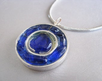 Sea Glass Jewelry - Cobalt Blue - Sea Glass Necklace - Unique jewelry - Beach Glass Jewelry
