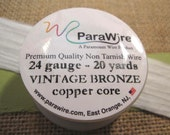 Vintage Bronze 24 Gauge Wire from ParaWire - 20 Yard Spool