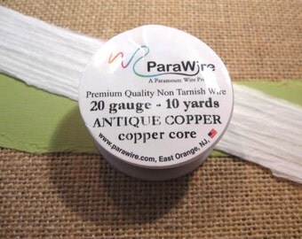 Antique Copper 20 Gauge Wire from ParaWire - 10 Yard Spool