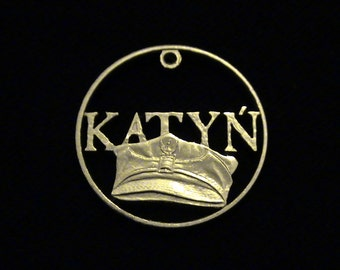 POLAND - cut coin jewelry - 2010 - Minted n Commemoration of the Katyn Forest Massacre of 1940