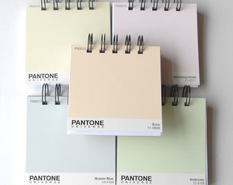 PANTONE Paintchip notebooks Set of 5 in Whispers