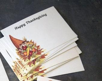 Vintage Thanksgiving Place Cards | Autumn Cornucopia | Set of 10 | Table Decor | Florist Note Cards