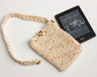 E-reader Case, Crochet Kindle Case, Chose Color, Mother's Day Gift, Detachable Strap, Custom Kindle Cover, Stocking Stuffer,