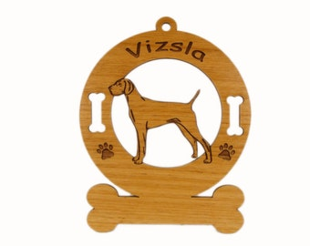 4192 Vizsla Standing Personalized Dog Ornament