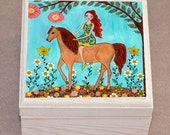 Horse Jewelry Box, Girl and Horse Trinket Box, Horse Gift Box, Jewellery Box