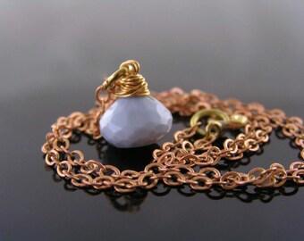 Owyhee Opal Necklace, Oregon Blue Opal Pendant Necklace, Opal Jewelry, Oregon Opal, Blue Opal Jewelry, American Opal Necklace