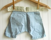 Vintage Shabby baby bloomers panties pants baby boy blue gingham for decor Laundry Nursery
