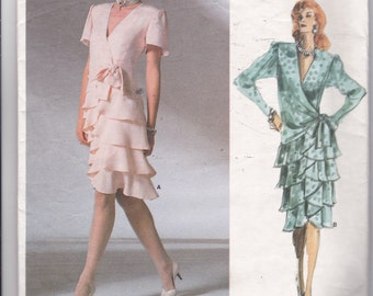 OOP Vintage New 1987 Vogue Pattern 1891 Bellville Sassoon Size 8