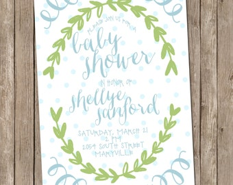 baby shower invitations digital file sip and see