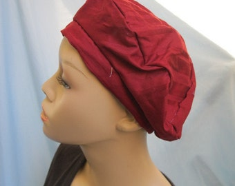 SALE - Red Shadow Stripe Beret (4399)